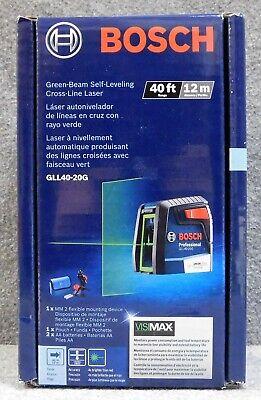 Brand New In Box Bosch Gll40-20g Cross-line Green Laser Nib Free Shipping