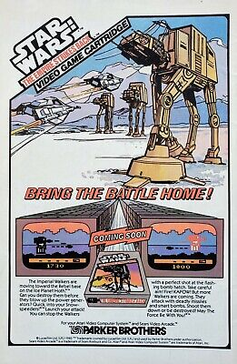 RARE 1982 STAR WARS EMPIRE STRIKES BACK Video Game Parker Brothers ATARI - Ad