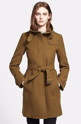 NWT Rushworth' Belted Wool Blend Coat US 8 Light Brown