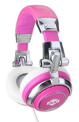 Auriculares Profesional DJ PA Mp3 Cascos HiFi Headphone Estudio Diadema Rosado