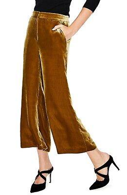 Boden Womens Lyndhurst Velvet Wide Leg Crop Pants in Trumpet Size 8 US $160
