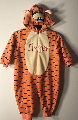 Disney Winnie The Pooh Tigger Baby Toddler Halloween Costume 12M Hooded Plush