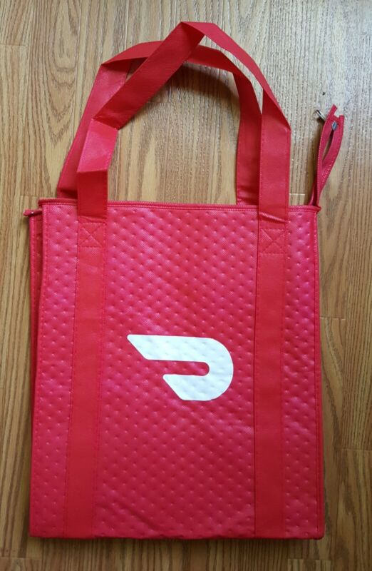 DoorDash Food Delivery Insulated Bag With Zipper NEW never used _