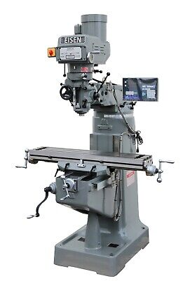 Eisen S-2a 9x49 Milling Machine 3hp W 2-axis Dro Free X-axis Powerfeed