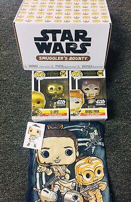 Star Wars Smugglers Bounty The Rise Of Skywalker Funko Pop Box Babu Frik 3PO Med