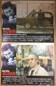 SET OF 2 CINEMA LOBBY CARDS PHOTOS - Robert De Niro Jean Reno - RONIN - <span itemprop=availableAtOrFrom>Gdynia, Polska</span> - SET OF 2 CINEMA LOBBY CARDS PHOTOS - Robert De Niro Jean Reno - RONIN - Gdynia, Polska
