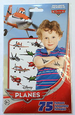 75 Disney Planes Tattoos Teacher Supply Party Favors Birthday Dusty  - Dusty Party Supplies