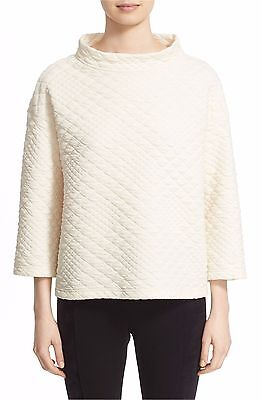 Lafayette 148 New York Stand Collar Quilted Sweatshirt (size M)