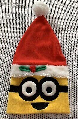 Minions Stocking Xmas Santa Hat Despicable Me Holiday Christmas Funny Gag Gift