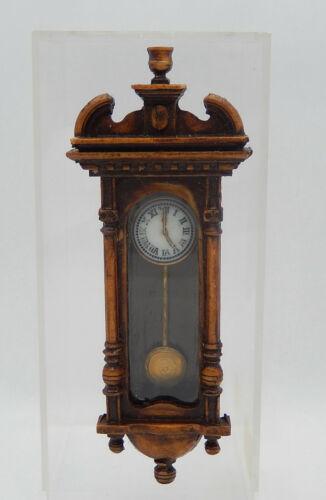 Vintage John Blauer Antique Wall Clock Artisan Dollhouse Miniature 1:12