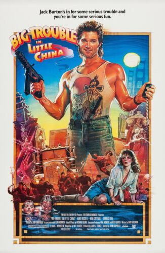 BIG TROUBLE IN LITTLE CHINA (1986) ORIGINAL MOVIE POSTER  -  ROLLED  -  DREW ART
