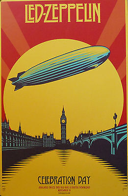 - LED ZEPPELIN, CELEBRATION DAY POSTER  (T7)