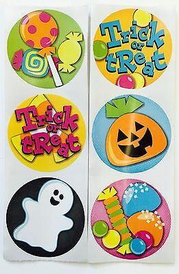 50 Happy Halloween Trick or Treat Stickers Party Favors Teacher Supply Candy - Happy Halloween Candy