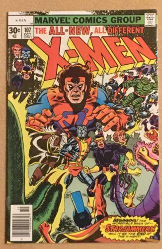 X-Men 107 Marvel Key 1977 1st Appearance Starjammers Claremont Phoenix VF Beauty