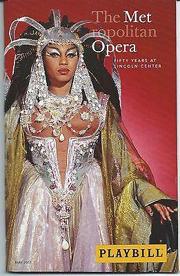 Met Opera Playbill 50 Years Lincoln Center PLACIDO DOMINGO RENEE FLEMING= LEVINE