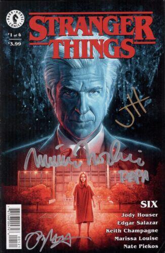 MATTHEW MODINE Signed X3 STRANGER THINGS COMIC BOOK SIX #1 Autograph JSA COA