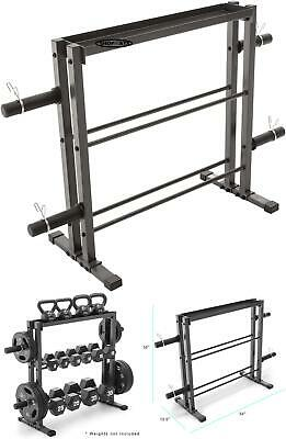 Olympic Dumbbell Rack Gym Plates Stand Fitness Equipment Wei
