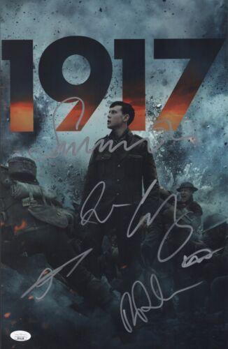 1917 Cast X6 Signed 11x17 Photo SAM MENDES, DEAN CHAPMAN, GEORGE MACKAY JSA COA