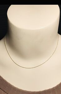 10K Gold Necklace 16inches long