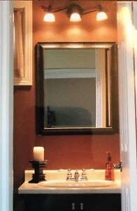 Bathroom vanity mirror & light