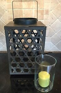 "Extra Large Size Candle / Fairy Light Lantern 16"" H x . 9 1/2"""