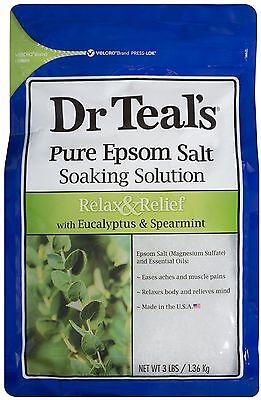 Dr Teals Epsom Salt Soaking Solution  Relax   Relief 48 Oz