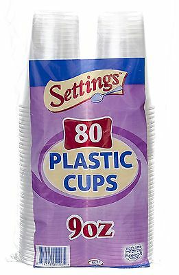 Settings Clear Plastic Disposable Cups, 9oz, 240 -