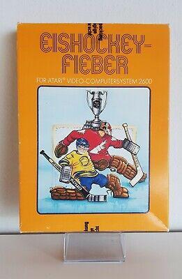!!! Atari 2600 Vcs Game Hockey Fever +Box+Instructions A5132