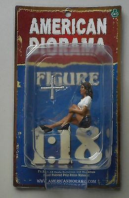 "LADY MECHANIC LUCY AMERICAN DIORAMA 1:18 Scale Figurine 3.5"" Female Figure"