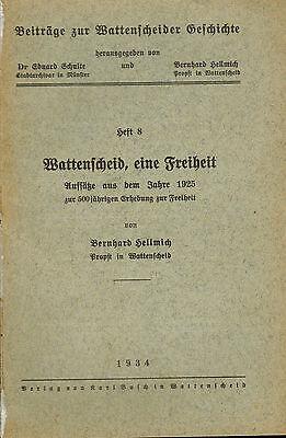 Hellmich, Wattenscheid Freiheit, Aufsätze v 1925, Beiträge Geschichte Bd 8, 1934