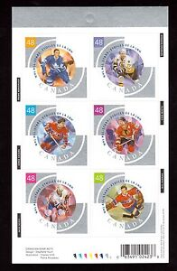 Canada #1972 VF/NH Imperf Hockey Booklet