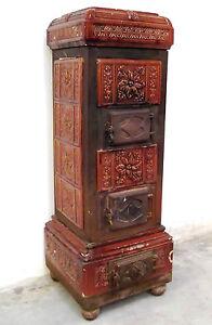 Stupenda stufa a legna in maiolica terracotta smaltata for Stufa a legna parlor