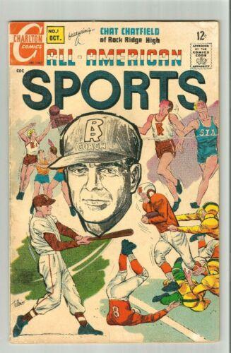 "ALL AMERICAN SPORTS #1 1967 Charlton Comics ""A LIFE & DEATH DECISION"""