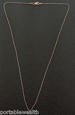 Rose Gold Mini Ball Chain 14K 18