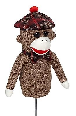 (Sock Monkey Golf Driver Headcover 460cc Animal Mascot Gift Head Cover Ape Unique)