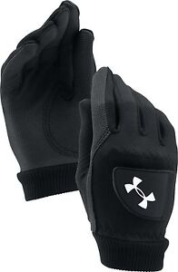 Under-Armour-Cold-Gear-1-Par-Hombre-Guantes-Golf-Negro-s-M-L-XL-Caliente-Seco
