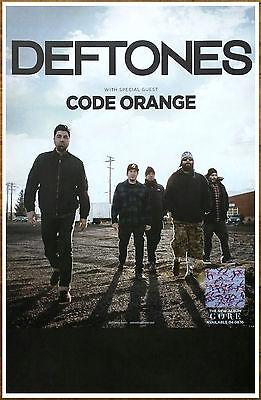 DEFTONES Gore 2016 Ltd Ed RARE Tour Poster +FREE Rock/Metal Poster! CODE ORANGE