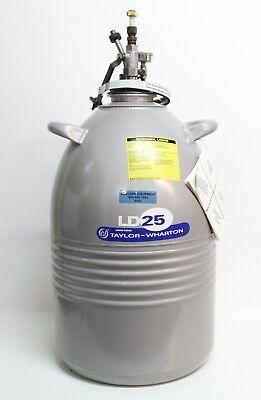 Taylor Wharton Ld25 25ldb Aluminum Cryogenic Nitrogen Dewar 25l 6542