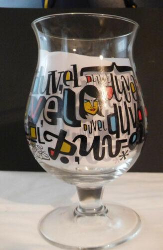 Duvel Limited Edition Denis Meyers Belgium Beer Ale Glass Moortgat Stemmed Tulip