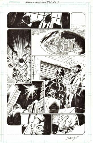 MARK BAGLEY SIGNED 2020 SPIDER-MAN ORIG. ART-DAREDEVIL, KINGPIN, THE SPOT!