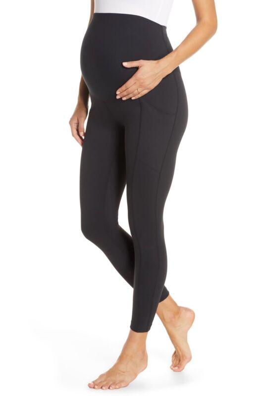 NEW Zella Live in Pocket 7/8 Maternity Leggings - Black - Large