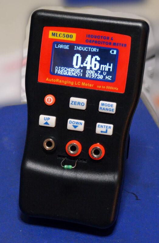 MLC500 Auto Range LC Cap Inductor 500Khz AutoRanging 0.1% Accuracy max100H 100mF