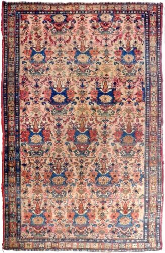 Genuine hand knotted authentic Antique area Rug. 4