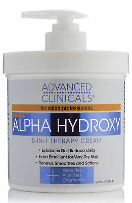 Advanced Clinicals Alpha Hydroxy Acid Cream for face and bod