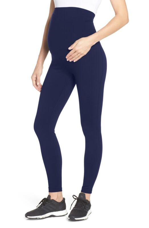 NEW Zella Mamasana Live In Maternity Ankle Leggings - Navy Blue - Small