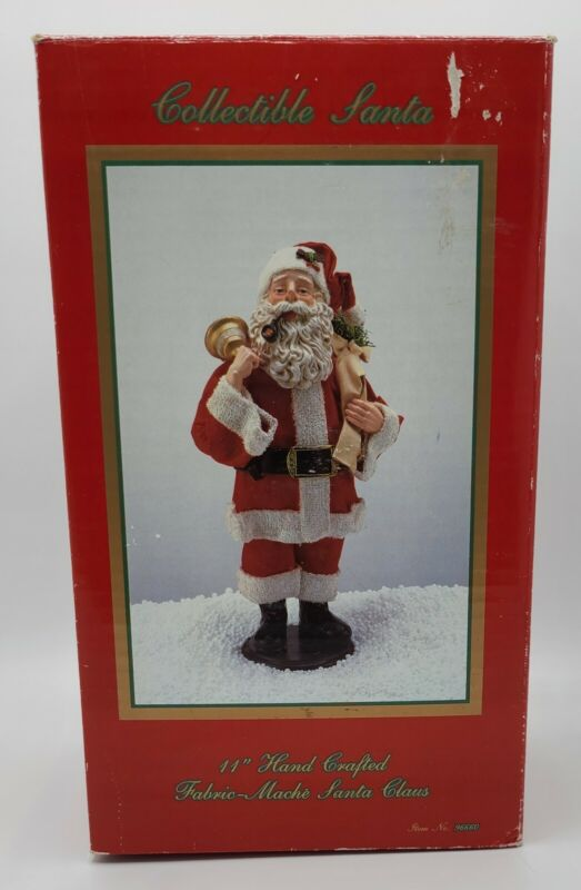 The Fabric Mache SANTA 1993 #96660 Vintage Christmas Decoration