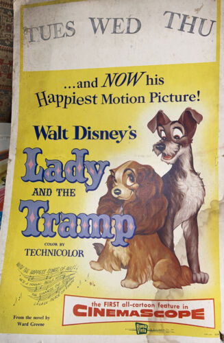 Vintage Poster Lady And The Tramp 1971 Movie Memorabilialitho 55/281 - $2.54