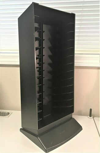 LASERLINE Black Plastic VHS Video Free-Standing Storage Rack, Holds 13 VHS Tapes