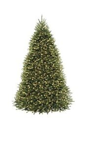 National Tree 9 Foot Hinged Dunhill Fir Tree with 900 Clear