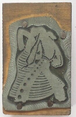 Letterpress Type Block Metal Wood Latin Dancers Print Block Ad Type 2 X 1